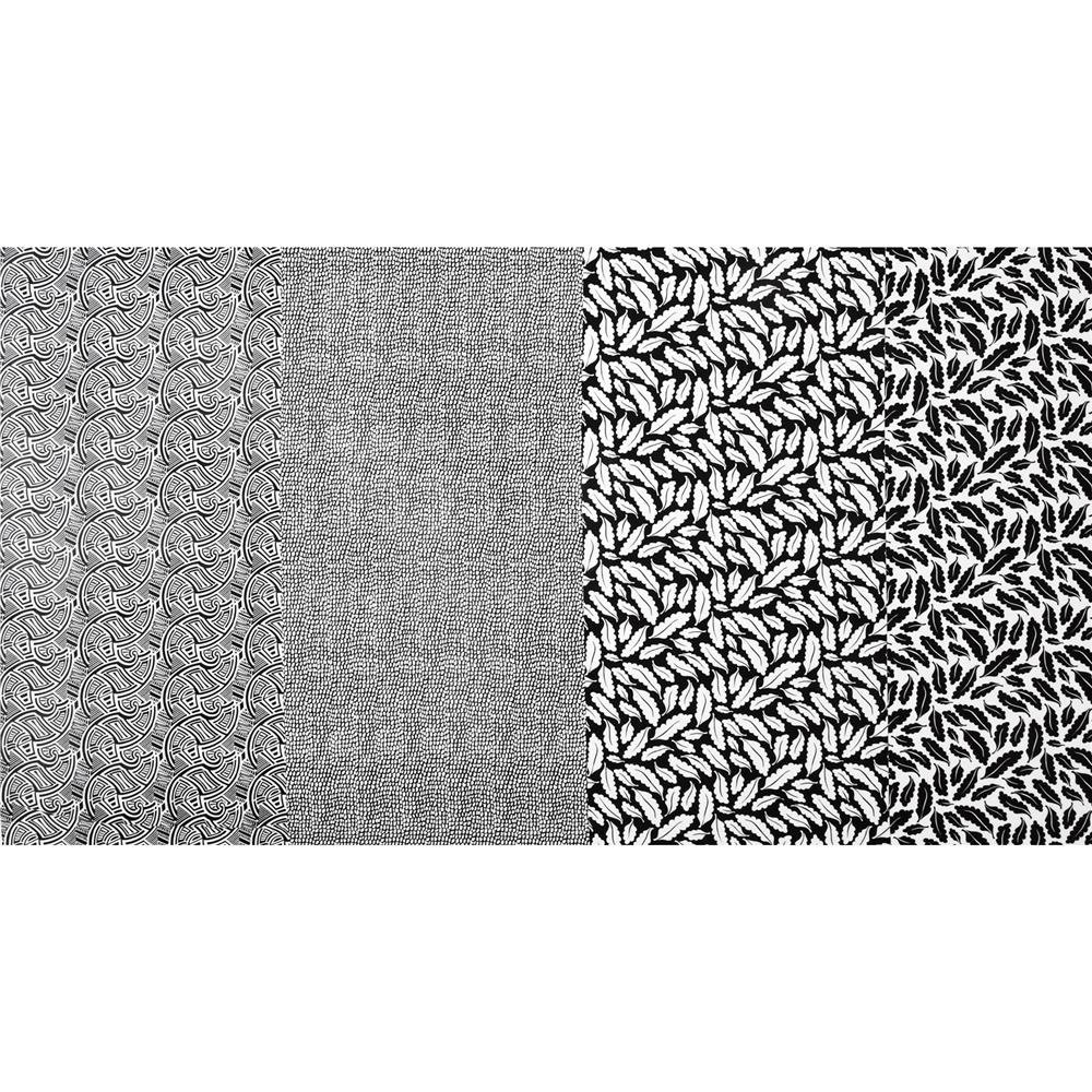Benartex Geniuses Go Wild Patch Stripe Black/White