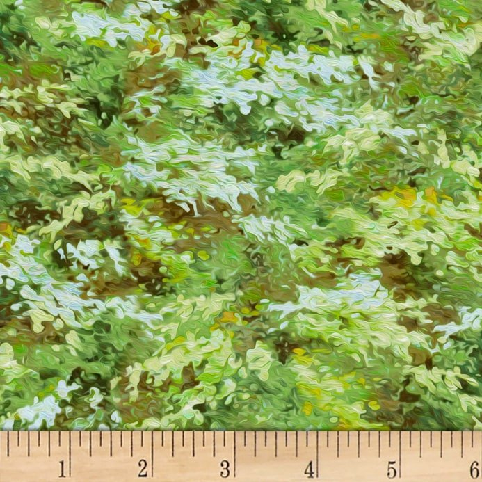 P & B Autumn Tranquility Green Leaf