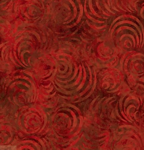 Wilmington 108 inch Wide Back Red on Red Swirls