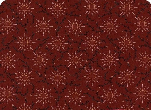 Henry Glass Prairie Vine 108 inch Wide Back Red