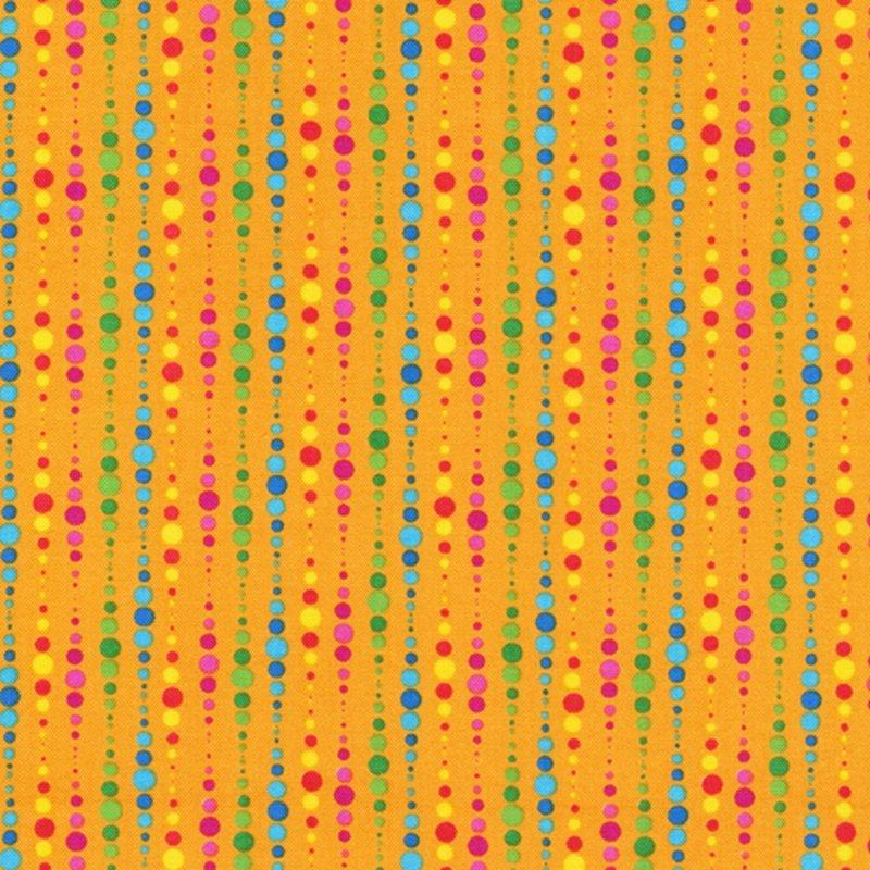 Paintbrush Studios Calypso Frogs Circle Stripe Orange
