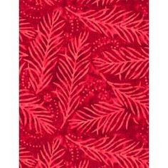 Wilmington Essesntials 108 inch Wide Back Red on Red Leaves