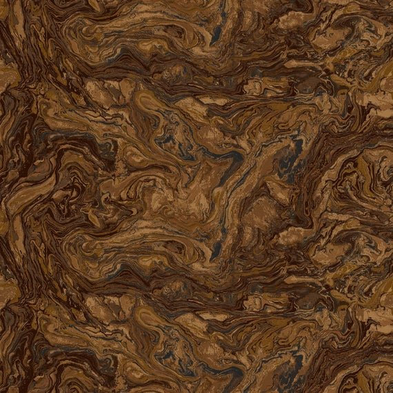 Fabri-Quilt Italian Marble Brown 112 inch Wide Back