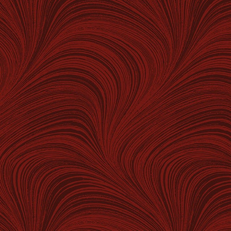 Benertex Wave Texture 108 inch Wide Back Dark Red