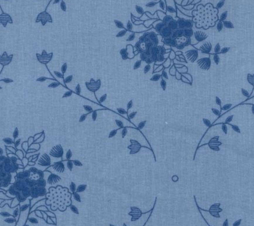 Choice Fabrics Blue on Light Blue Flower Trellis 108 inch Wide Back