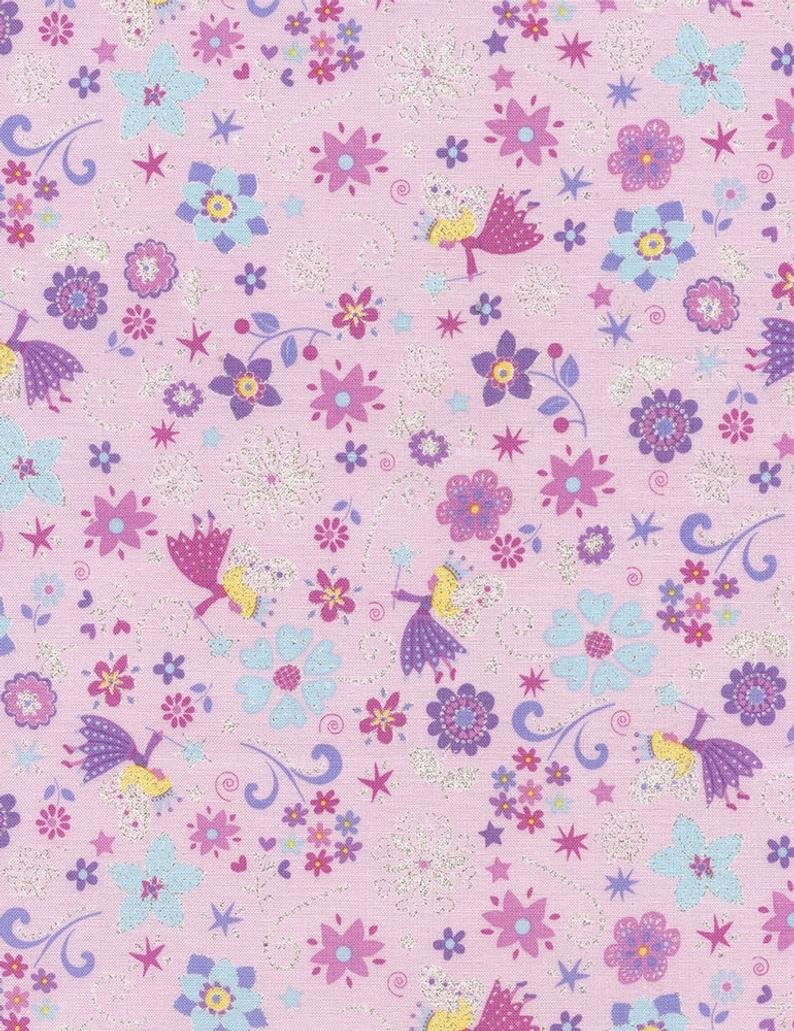 Timeless Treasures Enchanted Fairies CM3816 - Glitter