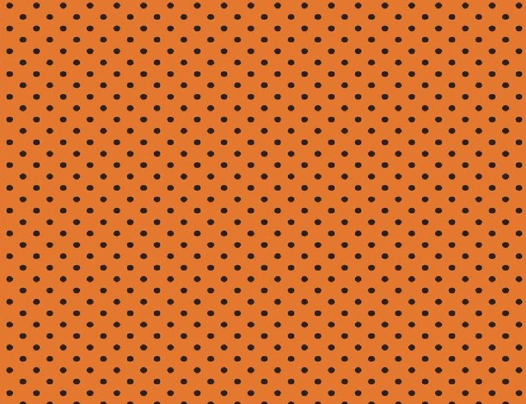 Riley Blake Witch Hazel Orange with Black Dots