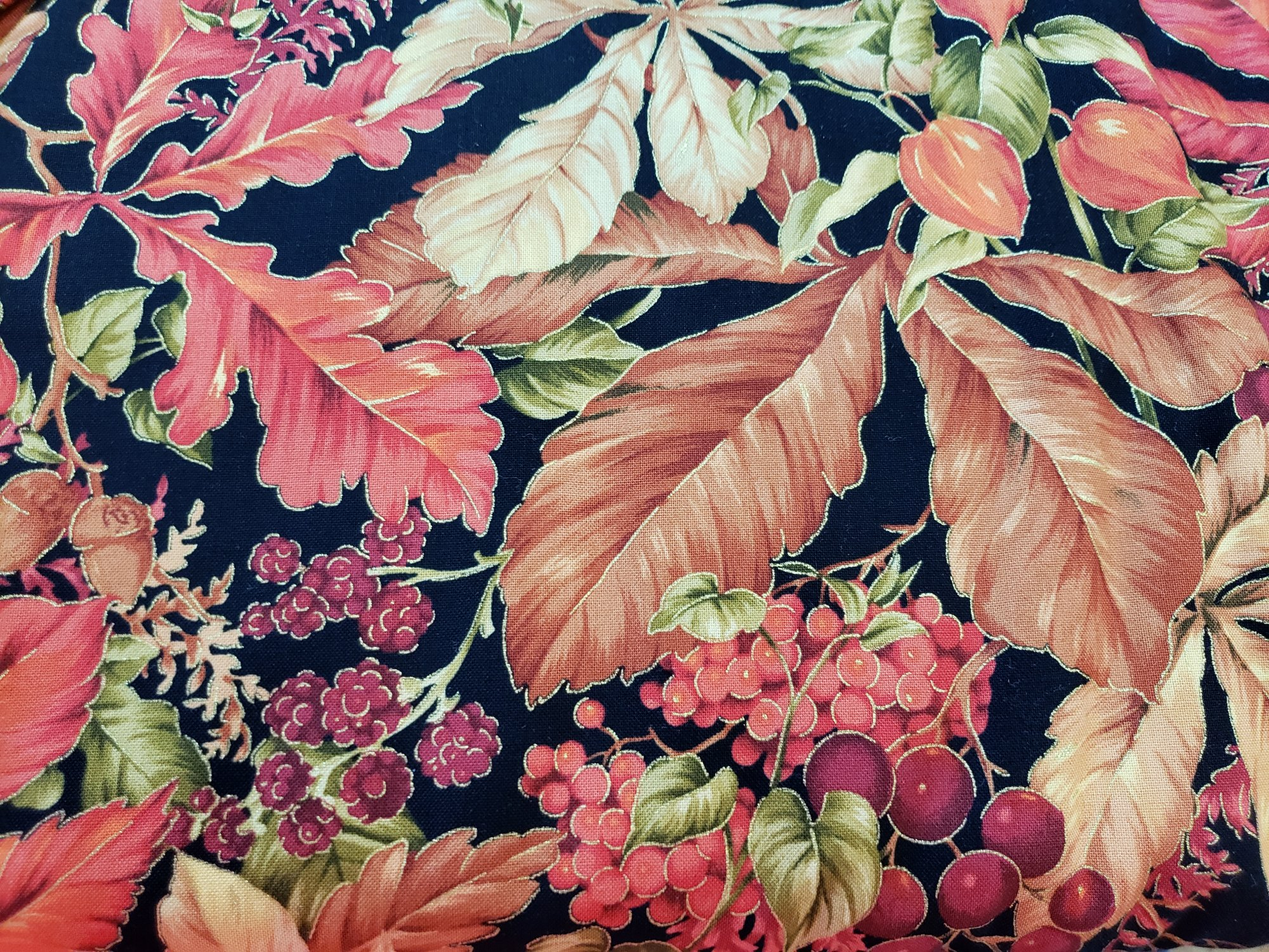 Fabric Quilt Fall spectacular Harvest Leaves