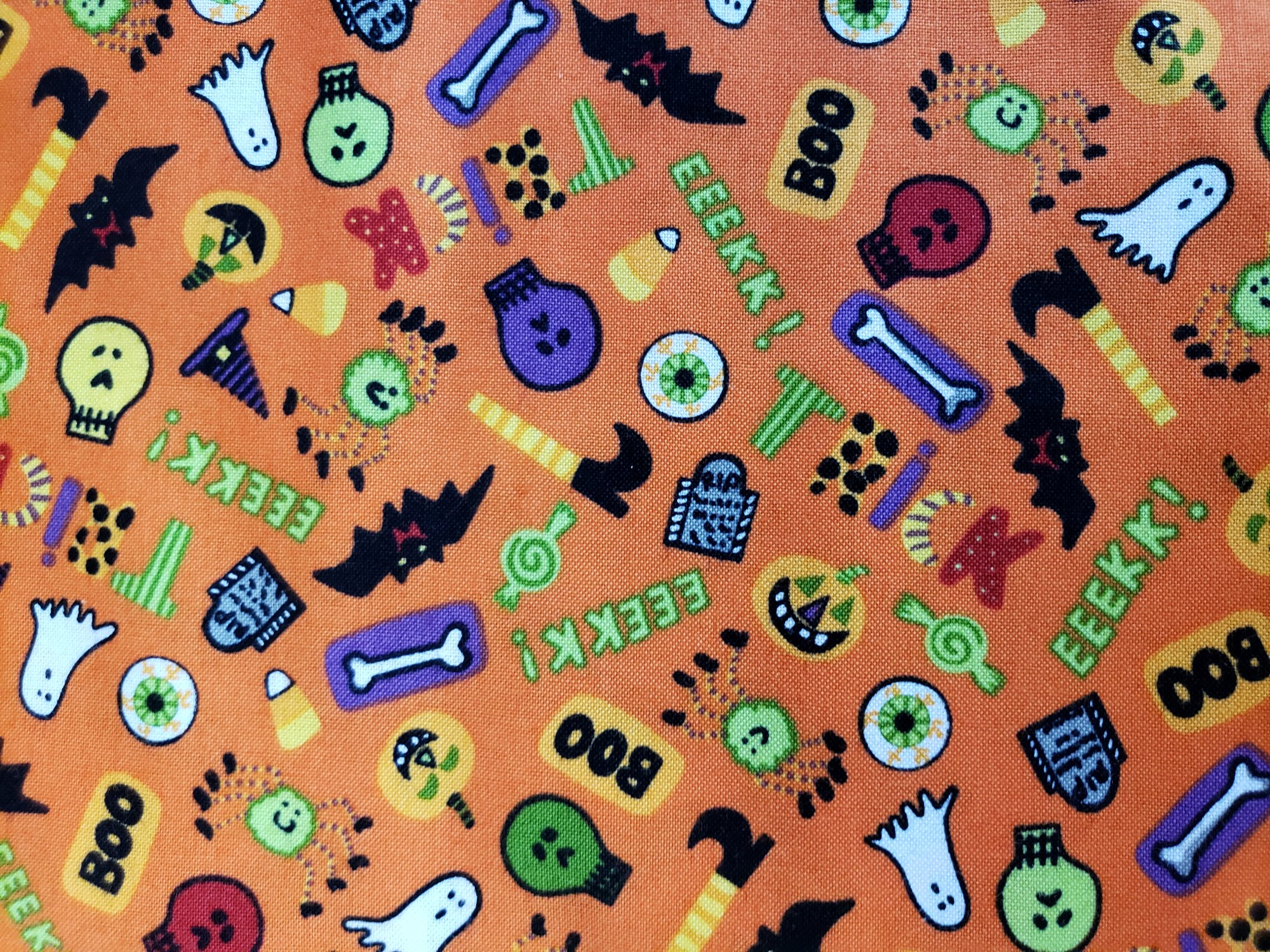 Andover Fabrics Be Witched Orange Halloween