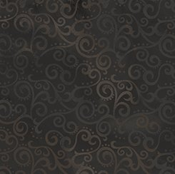 Quilting Treasurers Ombre Scroll Black