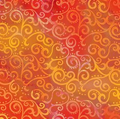 Quilting Treasurers Ombre Scroll Tangerine