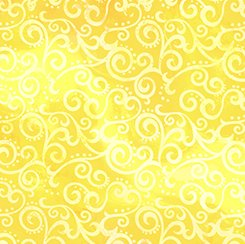 Quilting Treasurers Ombre Scroll Lemon