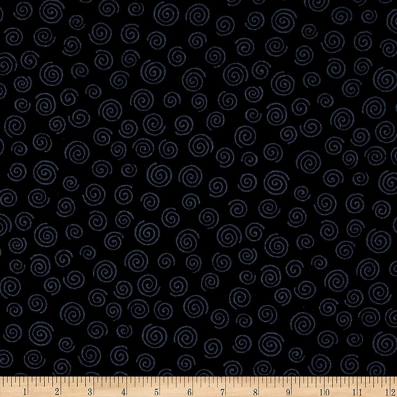 Westrade 110'' Wide Quilt Back Swirls Black Fabric #RI-8024
