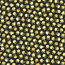 Andover Mandalay Breeze Black with Metallic Gold Flowers