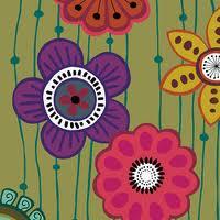 Andover Fabrics Garden Strings Green by Kim Schaefer