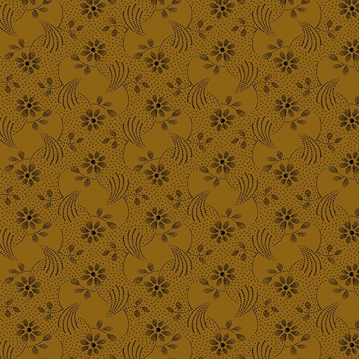 Andover Marmalade Brown Floral by Kathy Hall
