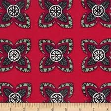Andover Fabrics Garden Strings Red by Kim Schaefer