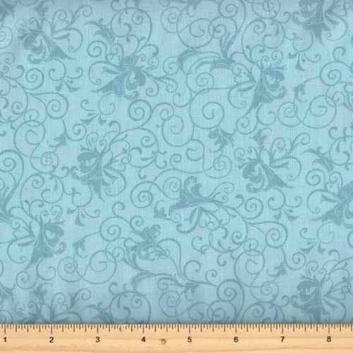 Benartex Glorious Hummingbirds Blue Swirl by Jackie Robinson