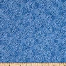 Wilmington Prints Circle Burst Wide Back Blue