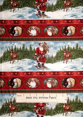 a Day In The Life Of Santa Border Print