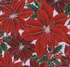 Hoffman Fabrics Ice Silver Winter Wishes 7173 Red
