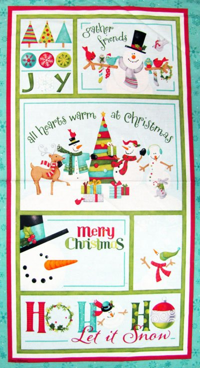 Christmas In Your Heart Fabric Panel Angels Robin Betterley South Sea Imports
