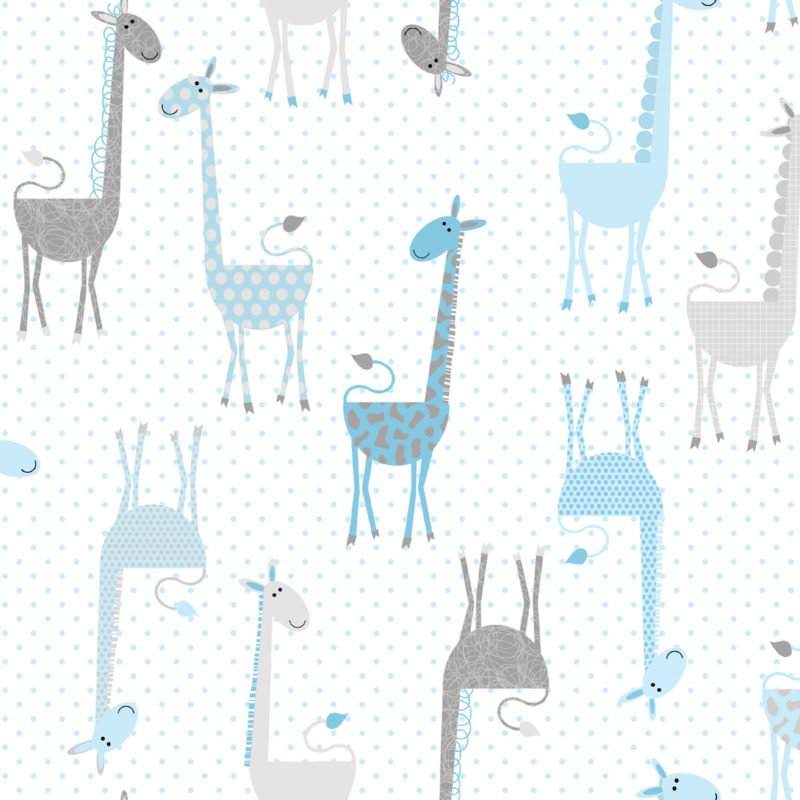 Fun Flannels Giraffes Blue