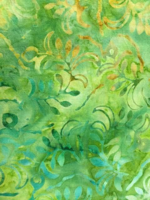 Choice Komo Batik Green Gold Swirls