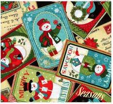 Benartex Michele D'Amore Happy Holidays Snowman