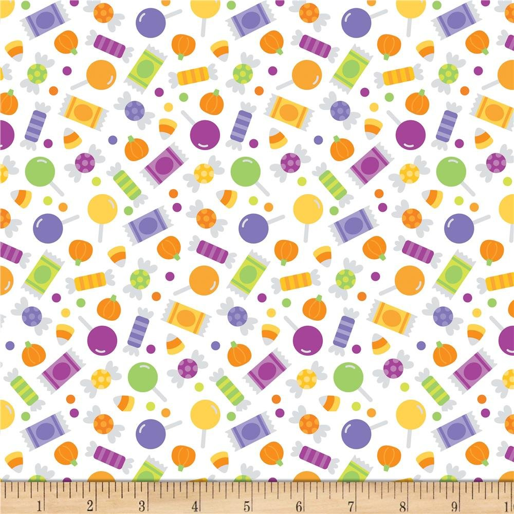 Riley Blake Designs Halloween Parade White Candy