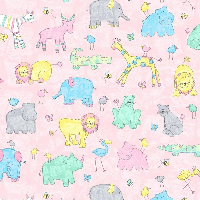 Epic Prints By Cheri Strole Two-by-Two Pink Bush