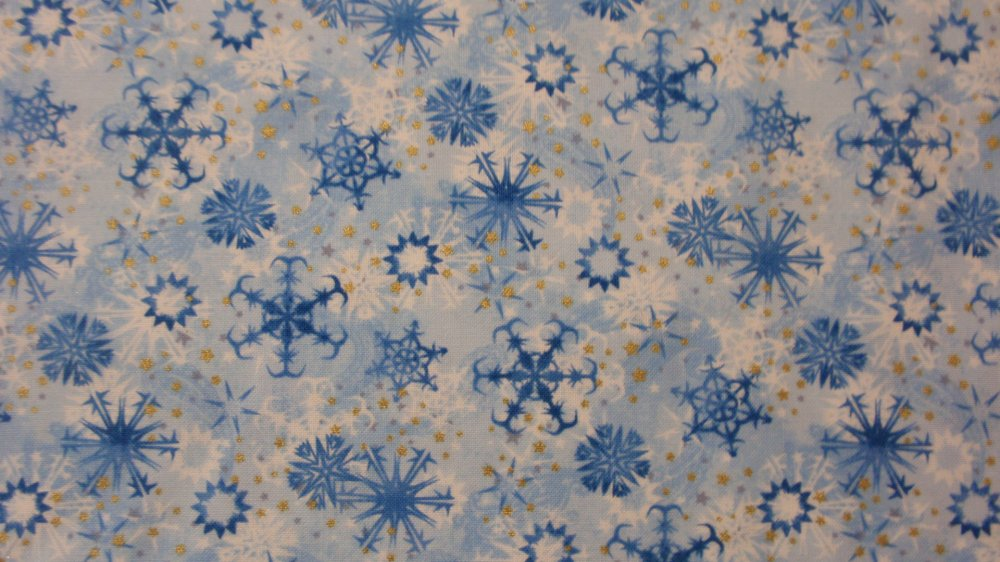 Paintbrush Studio Christmas MEM II Snowflake Blue White 120-3133