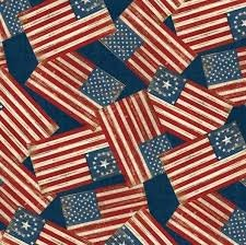 Wilmington Prints Colors of Freedom all over Flag by Jennifer Pugh