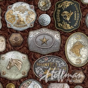 Hoffman Western Belt Buckles Digital Print Sable