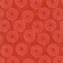 Wilmington Prints Circle Burst Wide Back Red