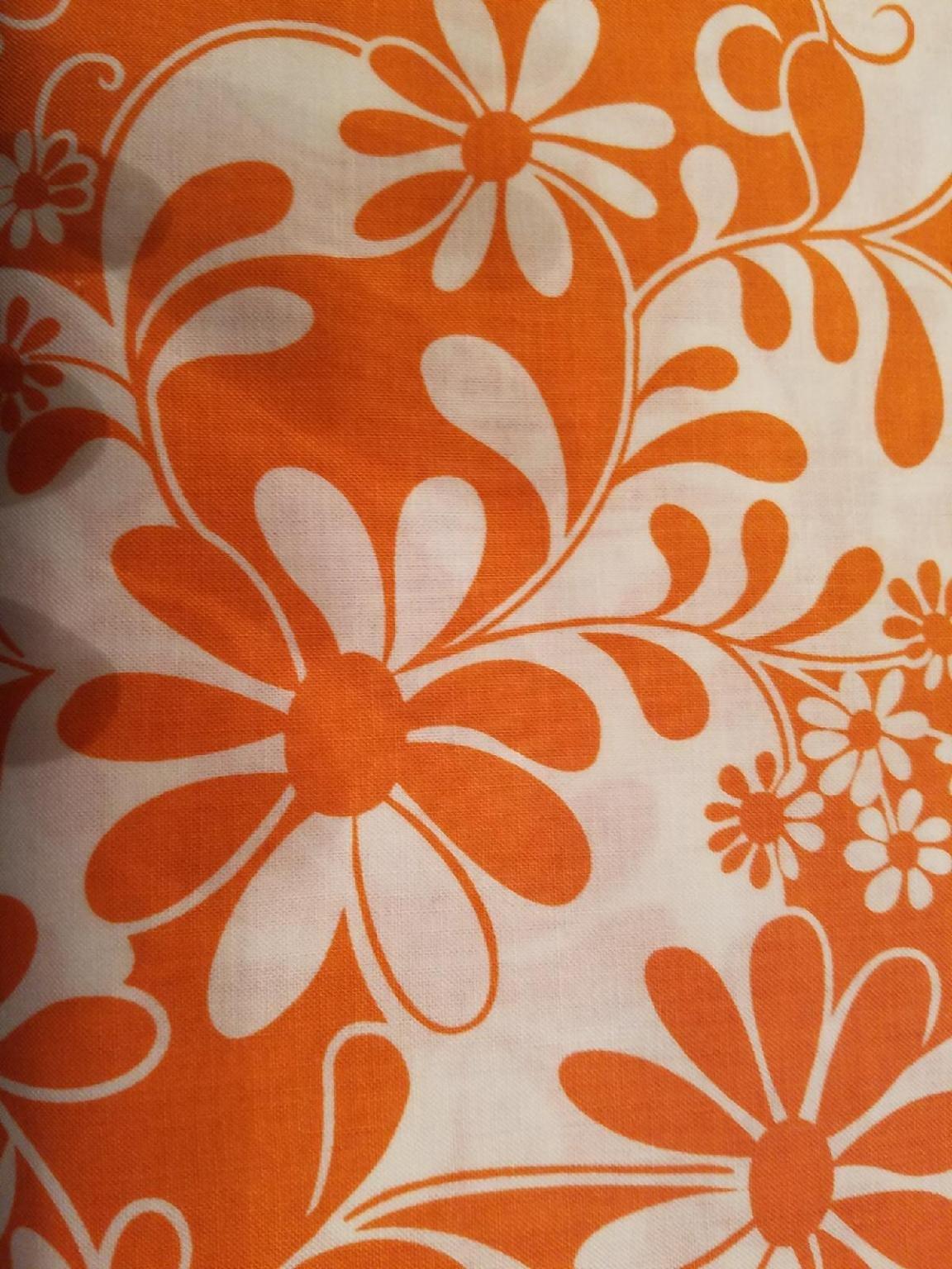 Benartex Crazy Daisy Orange white Floral