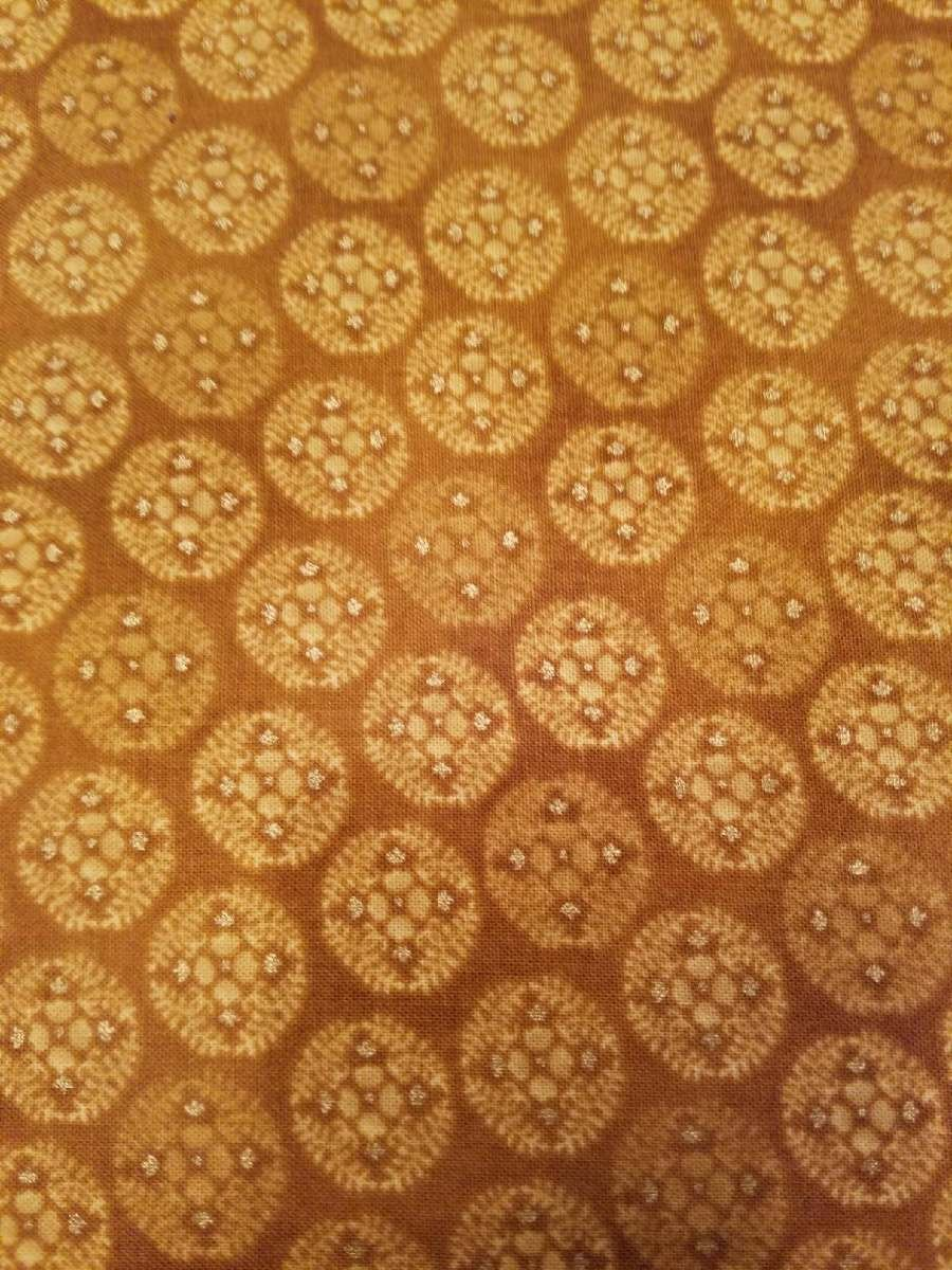 Andover Fabrics Jubilee by Kathy Hall Gold Circles