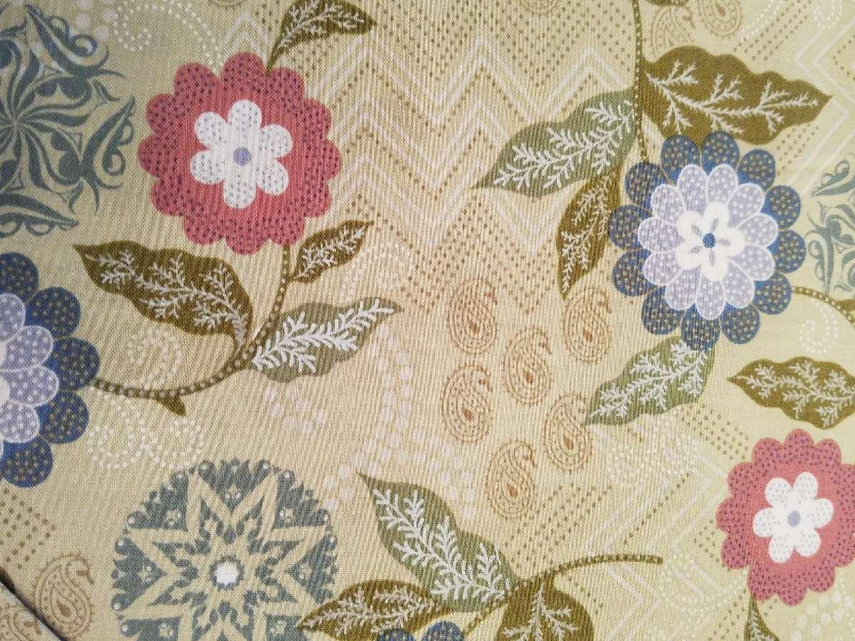 Benartex Cassandra Floral on Green Background