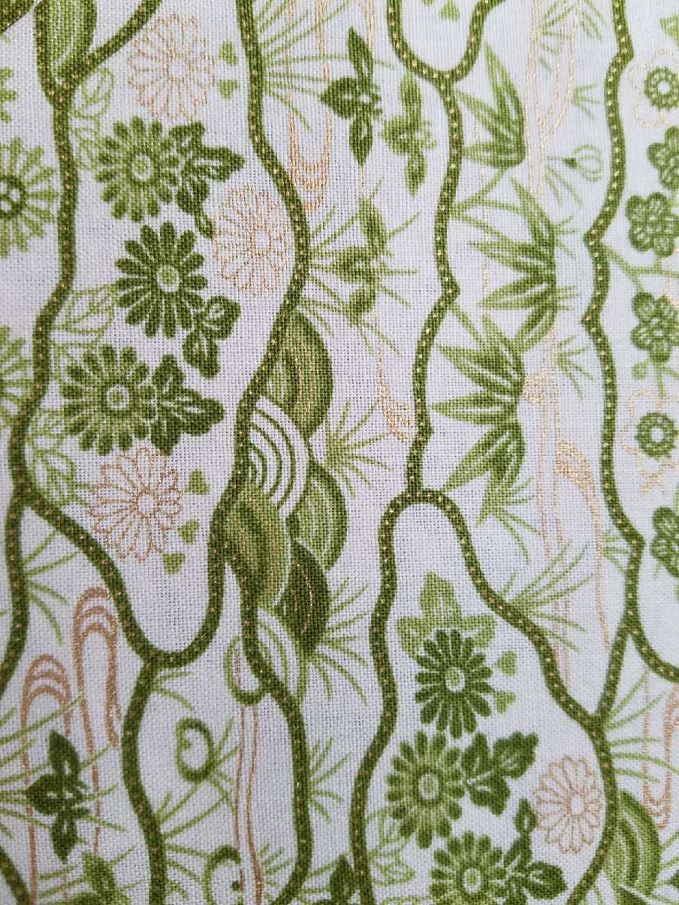 Andover Fabrics Jubilee Green and Gold