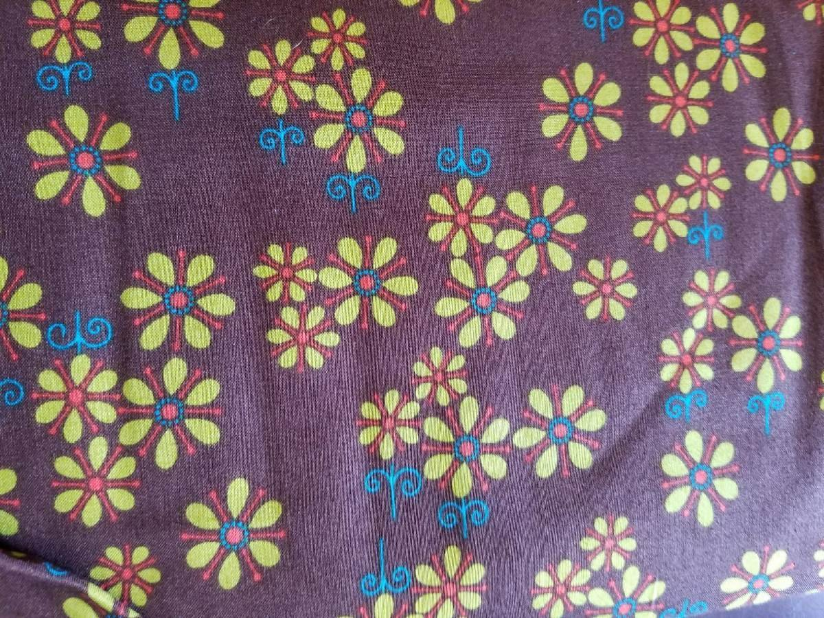 Andover Fabrics Dilly Dally by Kathy Hall Small floral print on Brown