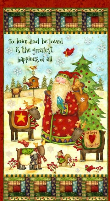 SPX fabrics Santa's Journey Panel