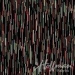 Hoffman Fabrics Cardinal Carols Lines Metallic Onyx/Silver Fabric