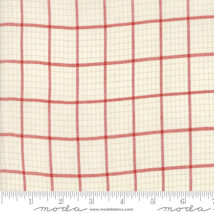 Snowberry Wovens 12024 12 White/Red Plaid