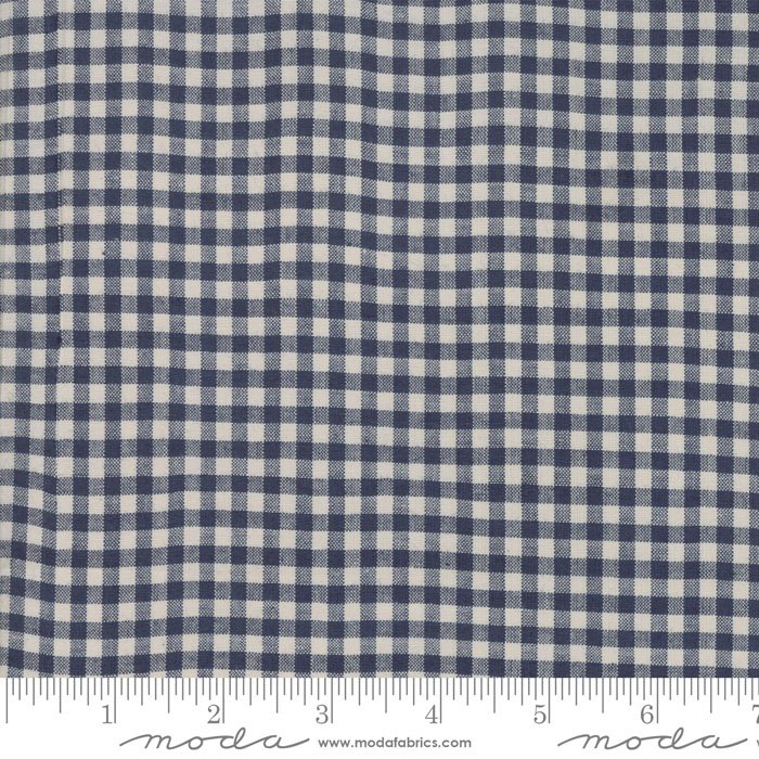 Snowberry Woven Blue Check 12024 19