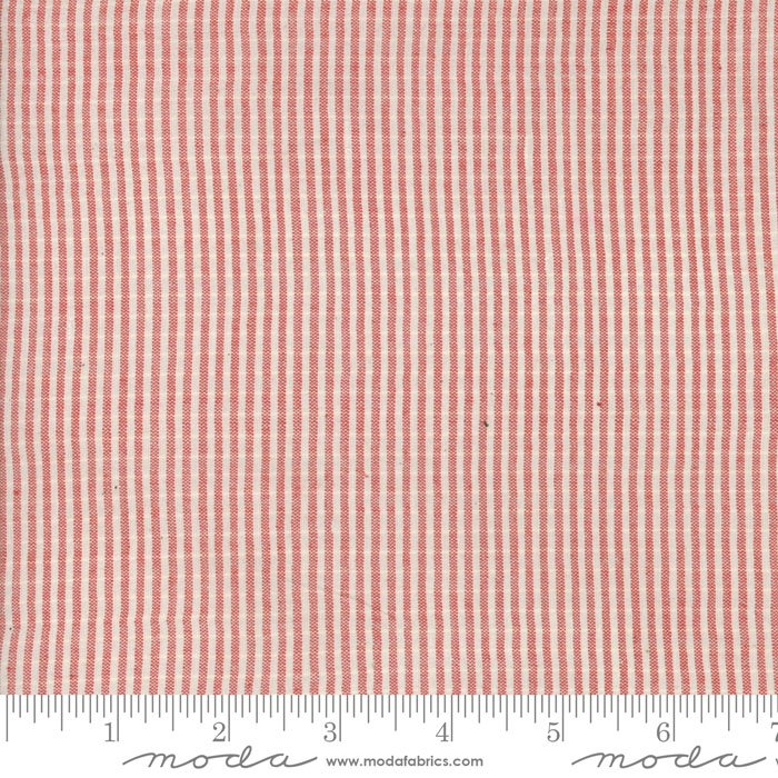 Snowberry Wovens Tiny Stripe Red 12024 20
