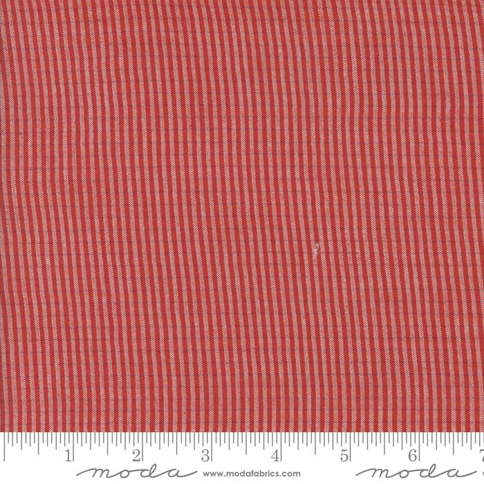Snowberry Wovens Tiny Stripe Red/Red 12024 21