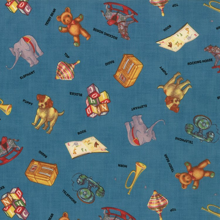 ABC 123 Blue  w/ Vintage Toys