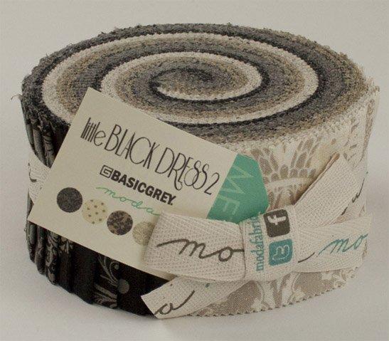 Moda LITTLE BLACK DRESS  2 by Basic Grey Jelly Roll
