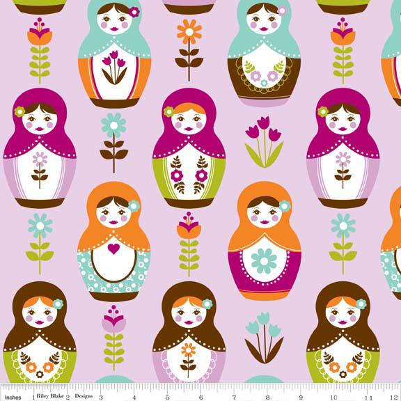 Little Matryoshka Dolls  --Purple