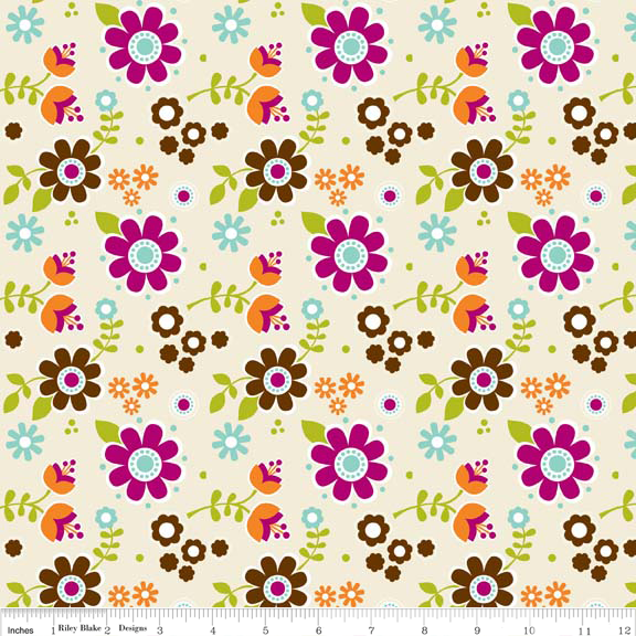 Little Matryoshka Floral --Purple